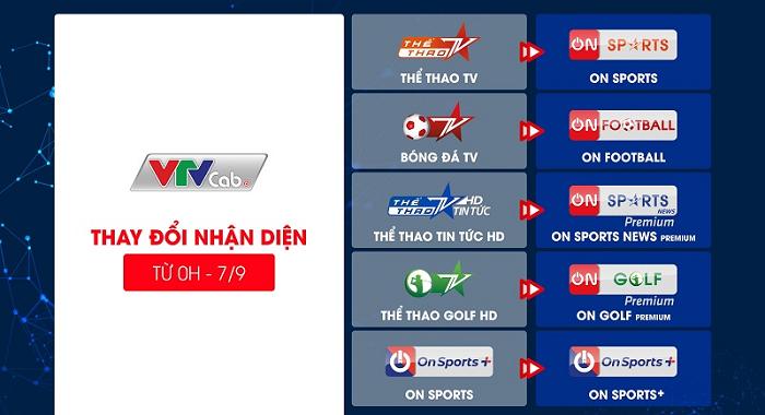 Nhận diện hệ thống kênh truyền hình VTVcab thay đổi từ ngày 7/9/2021